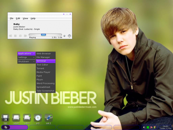 Justin Bieber Linux